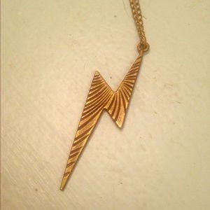 Jewelry - bronze lightning bolt pendant necklace